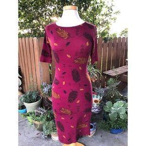 SOLD NWOT LuLaRoe Julia Feather & Leaf Dress